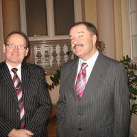 podpredsednik ZDIS Rajko Žagar in Bogomir Vidic, predsednik Komisije ZDIS za rekreacijo in šport