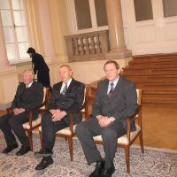 nagrajenci: prof. dr. Josip Miloš Turk, prim. mag. Martin Toth, Drago Novak, predsednik ZDIS