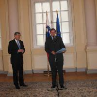 dr. Danilo Türk, predsednik RS in Drago Novak, predsednik ZDIS
