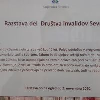 Razstava izdelkov invalidov DI Sevnica