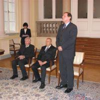 prof. dr. Josip Miloš Turk, prim. mag. Martin Toth, Drago Novak, predsednik ZDIS