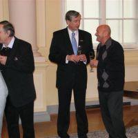 Anton Kastelic, član UO ZDIS, dr.Danilo Türk, predsednik RS in Ivan Mrevlje, član UO ZDIS