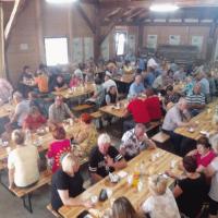 Volilni zbor članov DI Črešnjevec in srečanje težkih invalidov na Brinju
